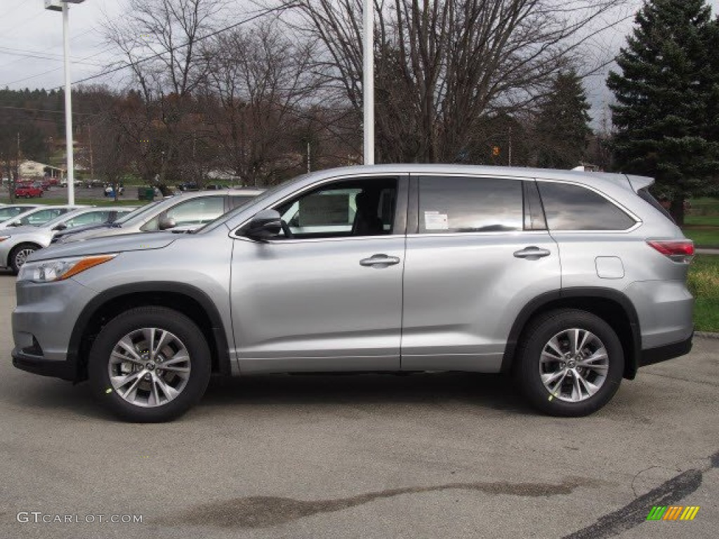 2016 Highlander Le Plus Awd Silver Sky Metallic Black Photo 2