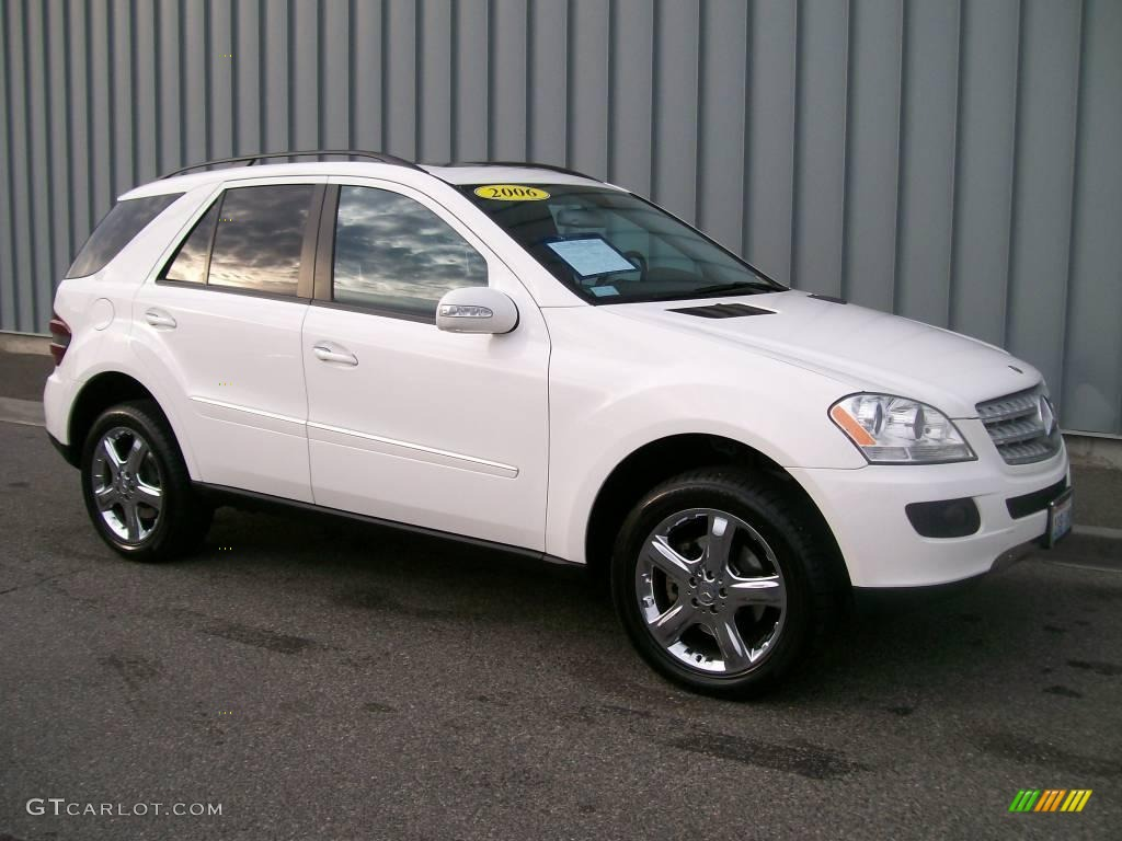 2006 alabaster white mercedes benz ml 500 4matic 1085716 car color galleries. Black Bedroom Furniture Sets. Home Design Ideas