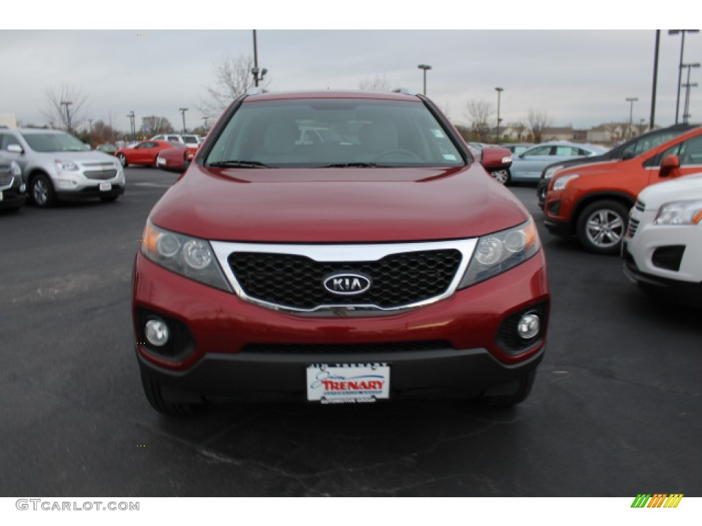 2011 Sorento LX - Spicy Red / Gray photo #8