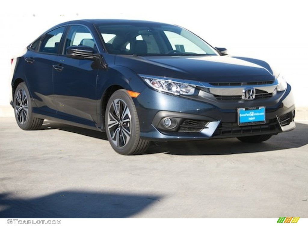 2016 cosmic blue metallic honda civic ex t sedan
