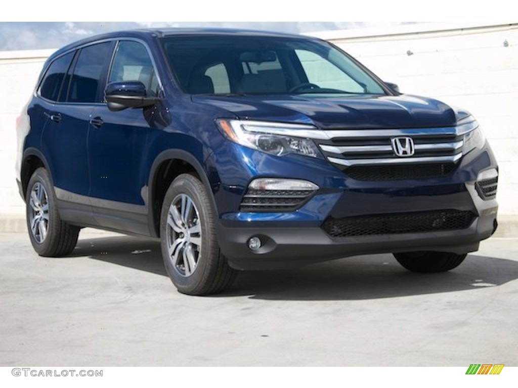2016 obsidian blue pearl honda pilot ex l awd 108919817. Black Bedroom Furniture Sets. Home Design Ideas