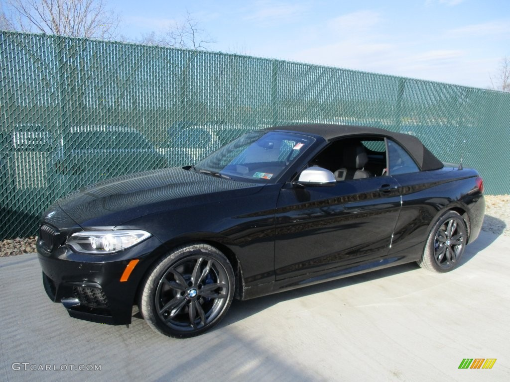 2016 black sapphire metallic bmw m235i convertible. Black Bedroom Furniture Sets. Home Design Ideas