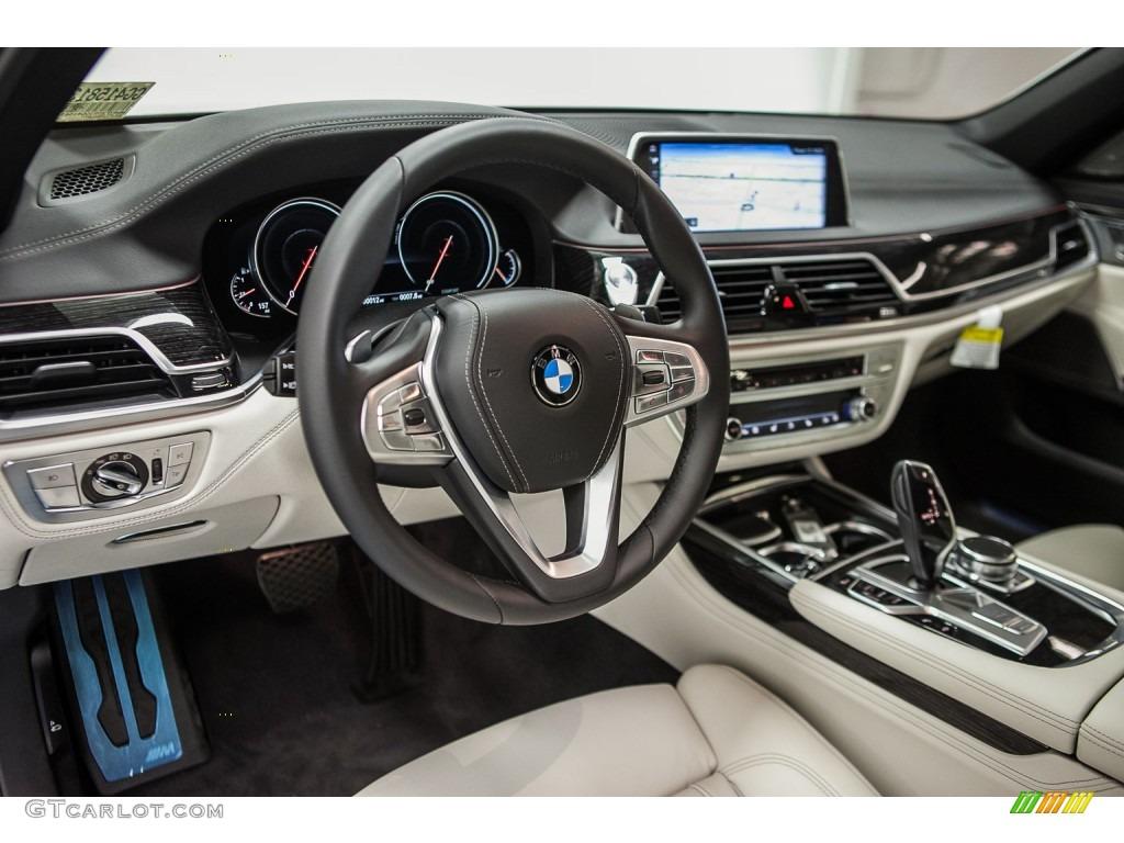 Ivory White Interior 2016 BMW 7 Series 750i XDrive Sedan Photo 108943189
