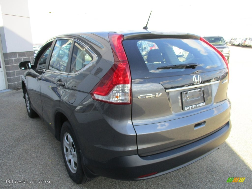 2014 CR-V LX AWD - Polished Metal Metallic / Gray photo #17