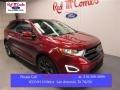 Ruby Red Metallic 2015 Ford Edge Sport