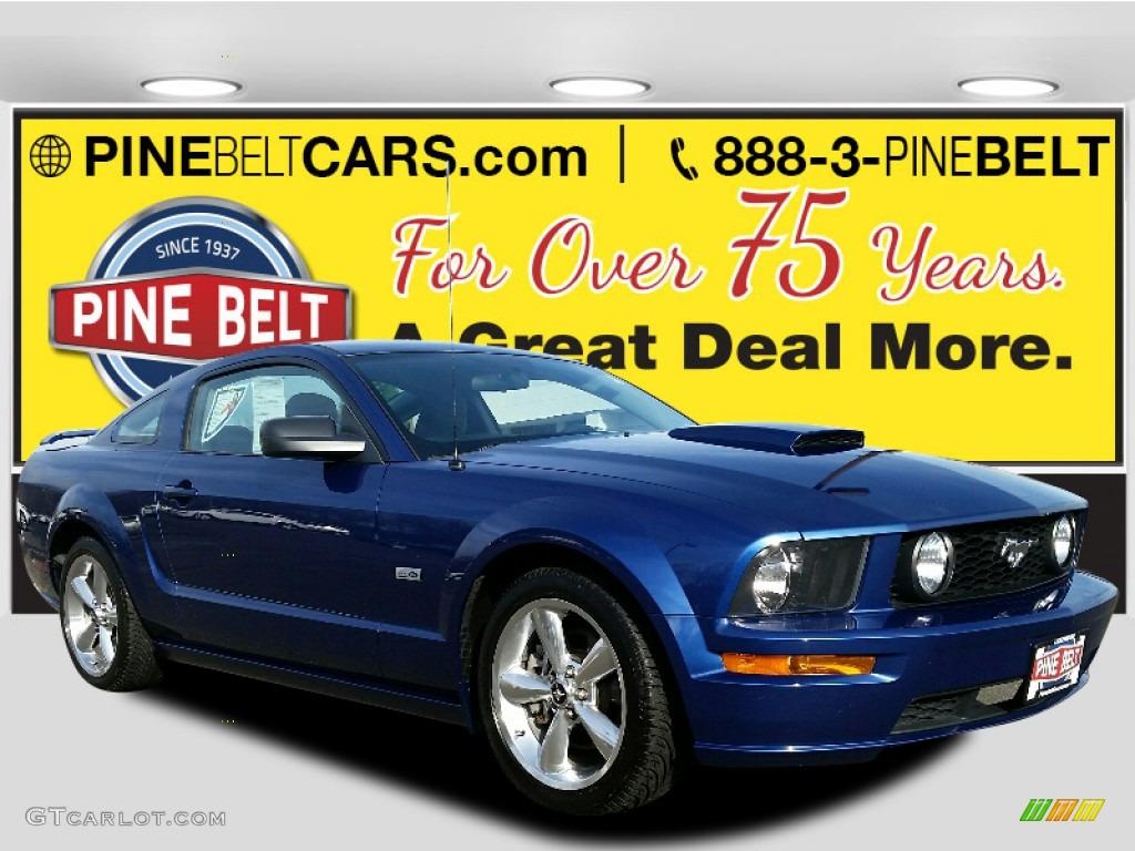 2006 Mustang V6 Premium Coupe - Vista Blue Metallic / Light Graphite photo #1