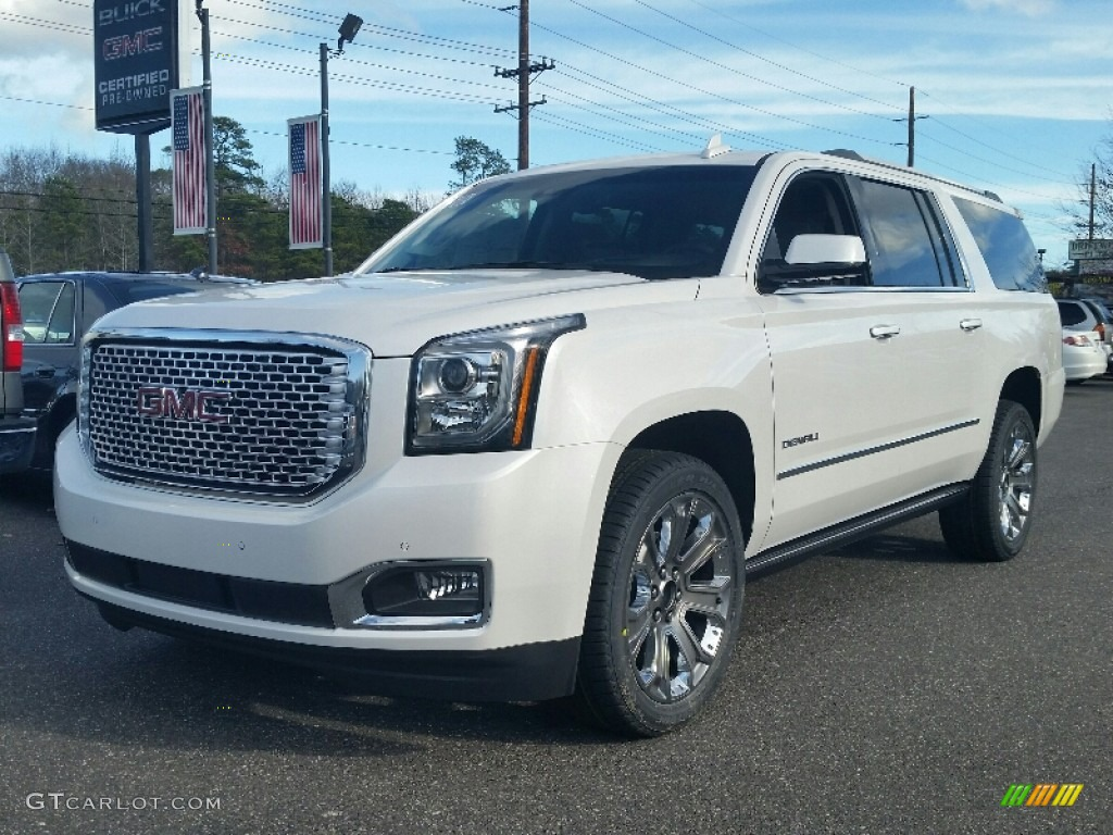 2016 white frost tricoat gmc yukon xl denali 4wd. Black Bedroom Furniture Sets. Home Design Ideas