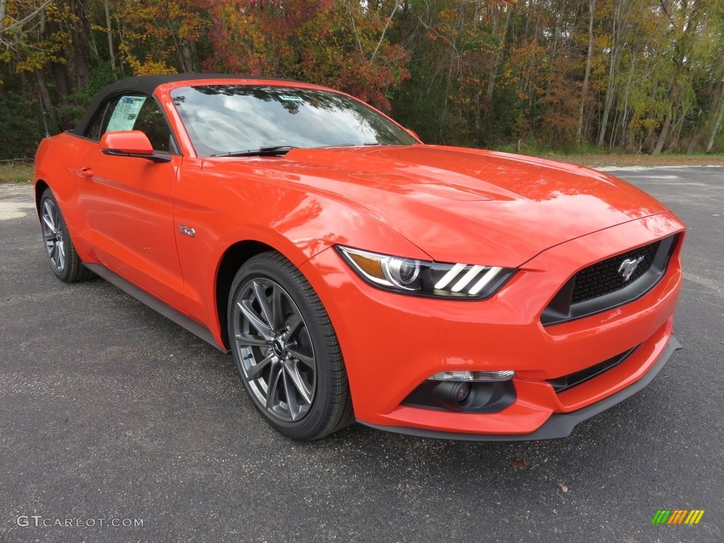 2016 competition orange ford mustang gt premium convertible