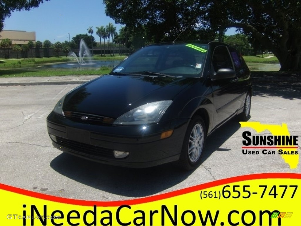 2003 Focus ZX3 Coupe - Pitch Black / Dark Charcoal photo #1