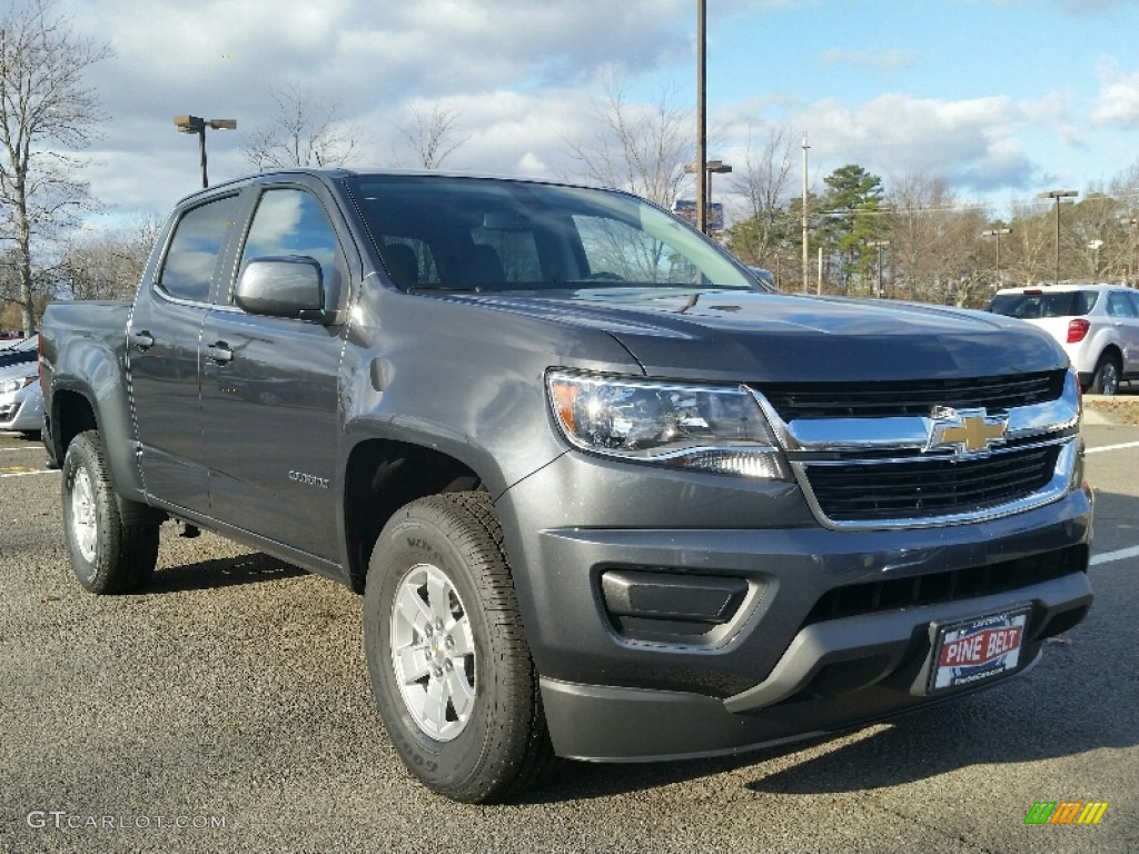 2016 cyber gray metallic chevrolet colorado wt crew cab. Black Bedroom Furniture Sets. Home Design Ideas
