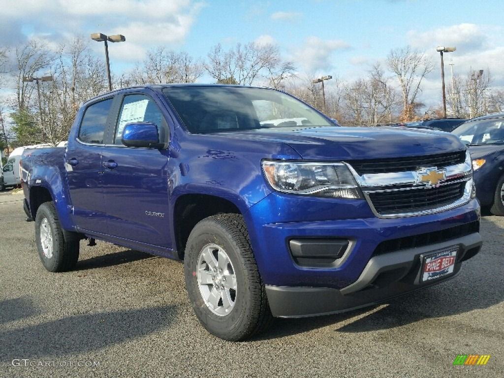 2016 laser blue chevrolet colorado wt crew cab 4x4. Black Bedroom Furniture Sets. Home Design Ideas