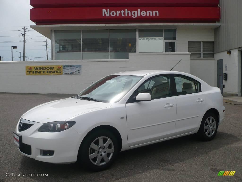 2008 rally white mazda mazda3 i sport sedan 10898472 car color galleries. Black Bedroom Furniture Sets. Home Design Ideas