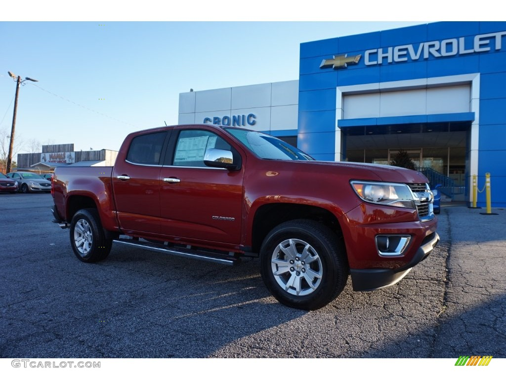 2016 red rock metallic chevrolet colorado lt crew cab. Black Bedroom Furniture Sets. Home Design Ideas