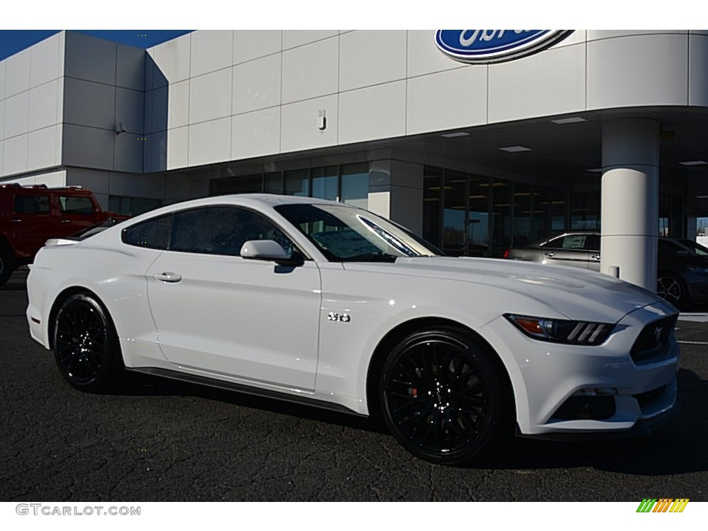 2016 Mustang Gt Coupe Oxford White Ebony Photo 1