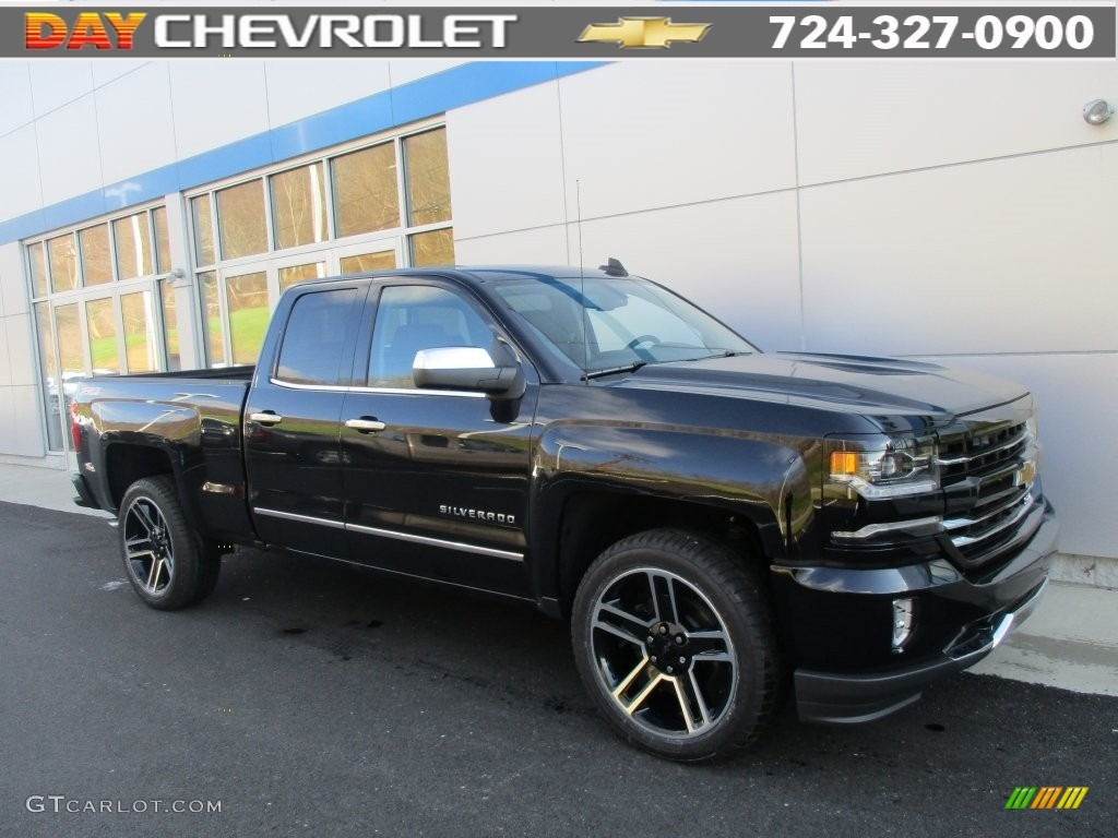 2016 black chevrolet silverado 1500 ltz z71 double cab 4x4 109146846 car color. Black Bedroom Furniture Sets. Home Design Ideas