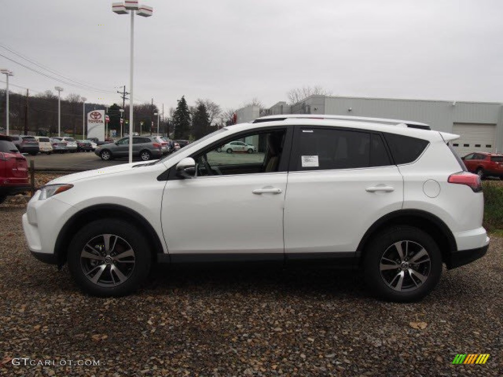 2016 Super White Toyota Rav4 Xle Awd 109187354 Photo 2