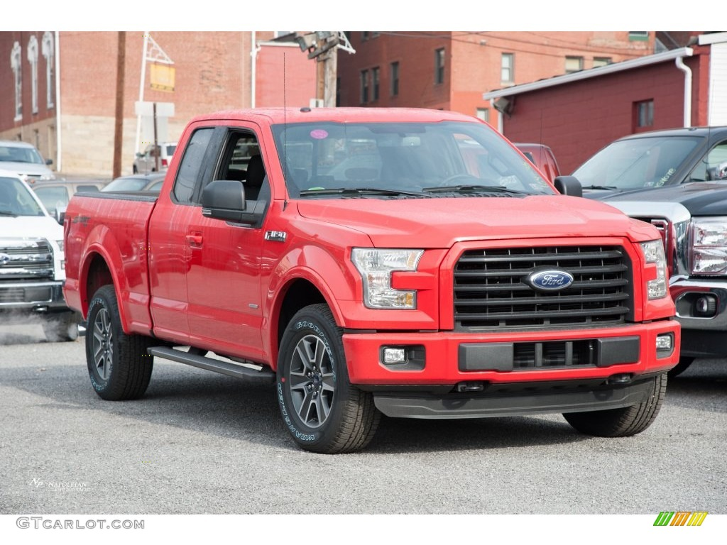 2016 race red ford f150 xlt supercab 4x4 109210858 car color galleries. Black Bedroom Furniture Sets. Home Design Ideas