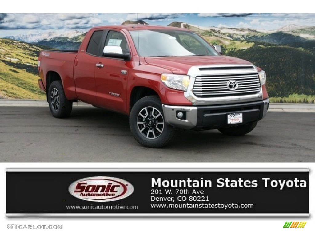 2016 Tundra Limited Double Cab 4x4 - Barcelona Red Metallic / Graphite photo #1