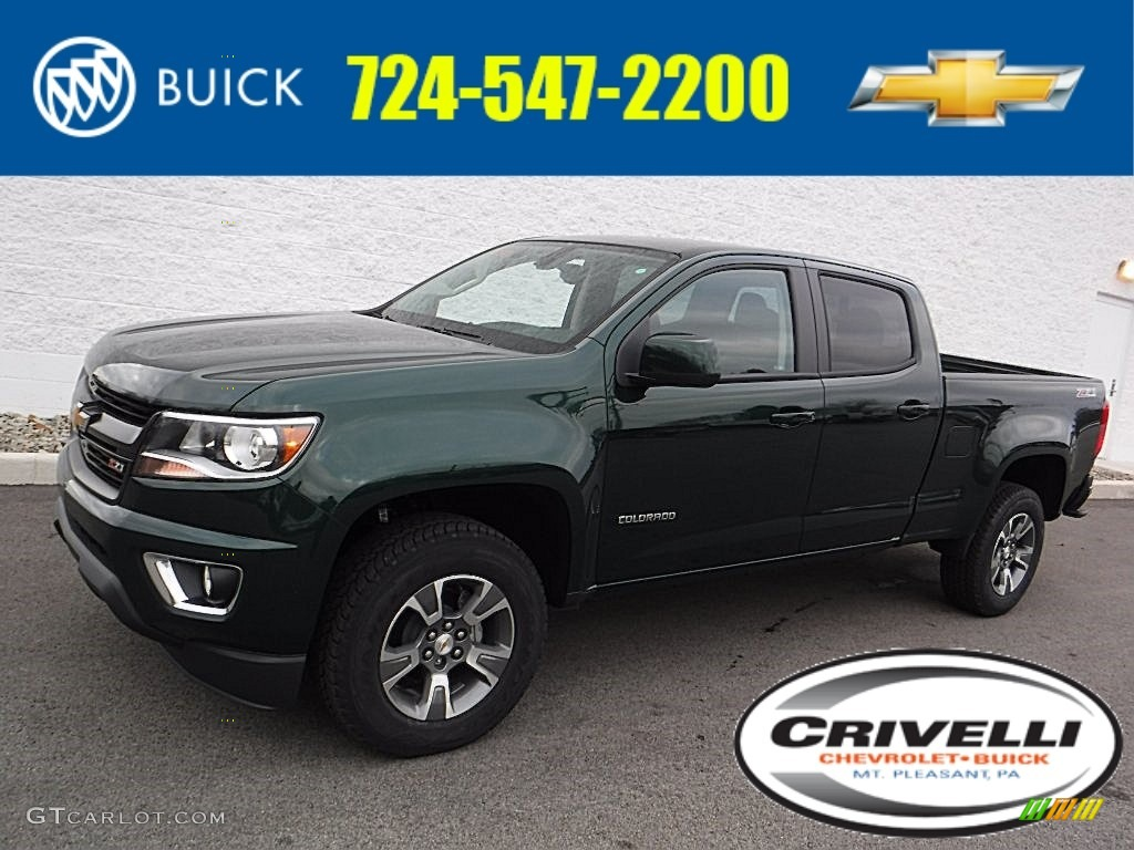 2016 rainforest green metallic chevrolet colorado z71 crew. Black Bedroom Furniture Sets. Home Design Ideas