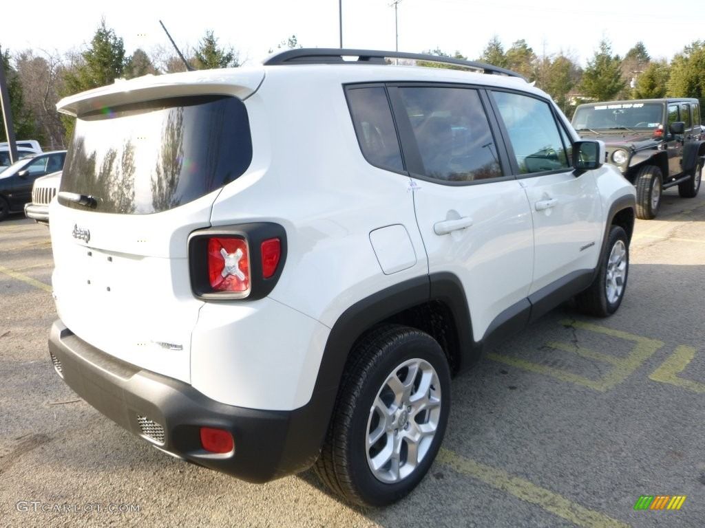 2016 Renegade Latitude 4x4 - Alpine White / Bark Brown/Ski Grey photo #7