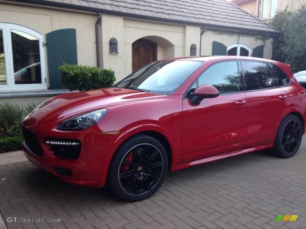 2014 Carmine Red Porsche Cayenne Gts 109306589 Gtcarlot Com Car Color Galleries