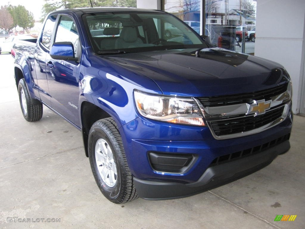 2016 laser blue chevrolet colorado wt extended cab. Black Bedroom Furniture Sets. Home Design Ideas