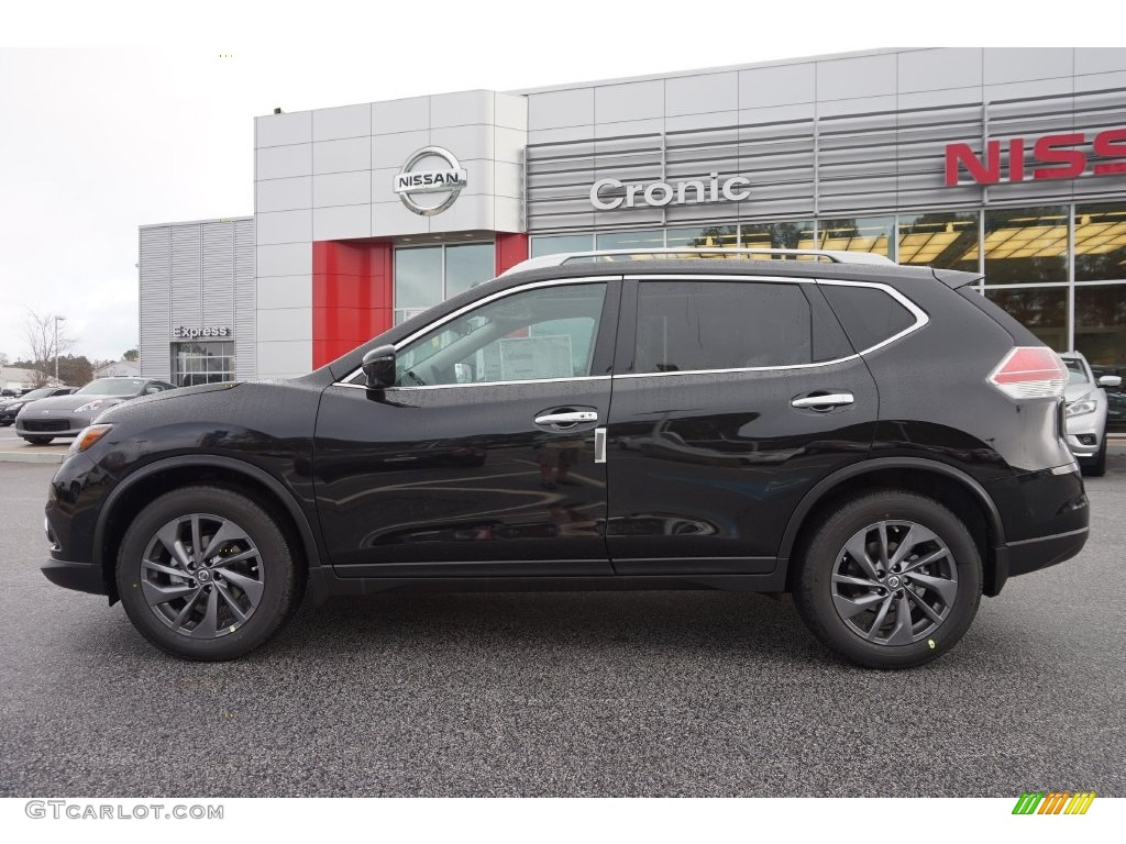 2016 Magnetic Black Nissan Rogue Sl 109336386 Photo 2