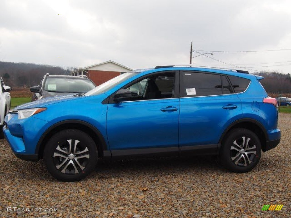 2016 Electric Storm Blue Toyota Rav4 Le Awd 109371313