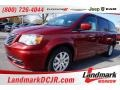 Deep Cherry Red Crystal Pearl 2016 Chrysler Town & Country LX