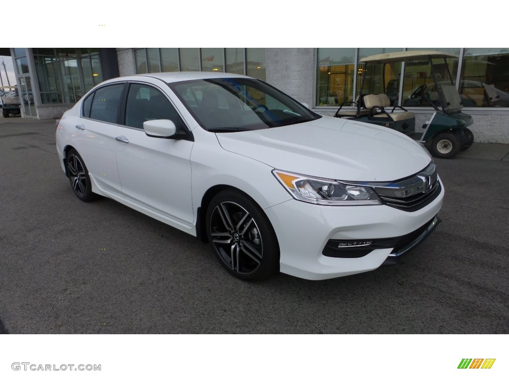 2016 Accord Sport Sedan White Orchid Pearl Black Photo 1