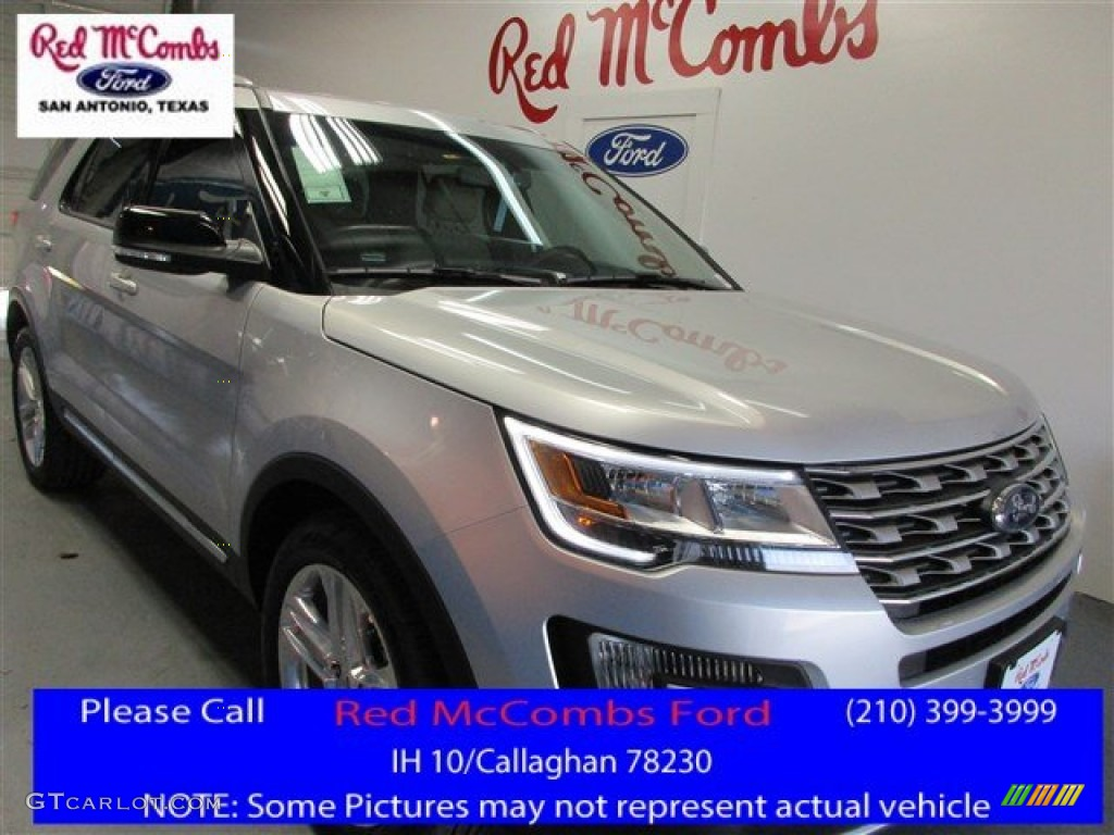 2016 Explorer XLT - Ingot Silver Metallic / Medium Light Camel photo #1
