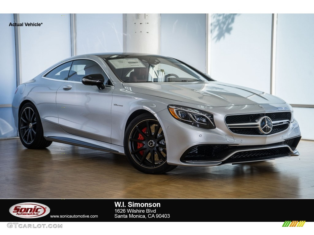 2016 iridium silver metallic mercedes benz s 63 amg 4matic for Mercedes benz silver