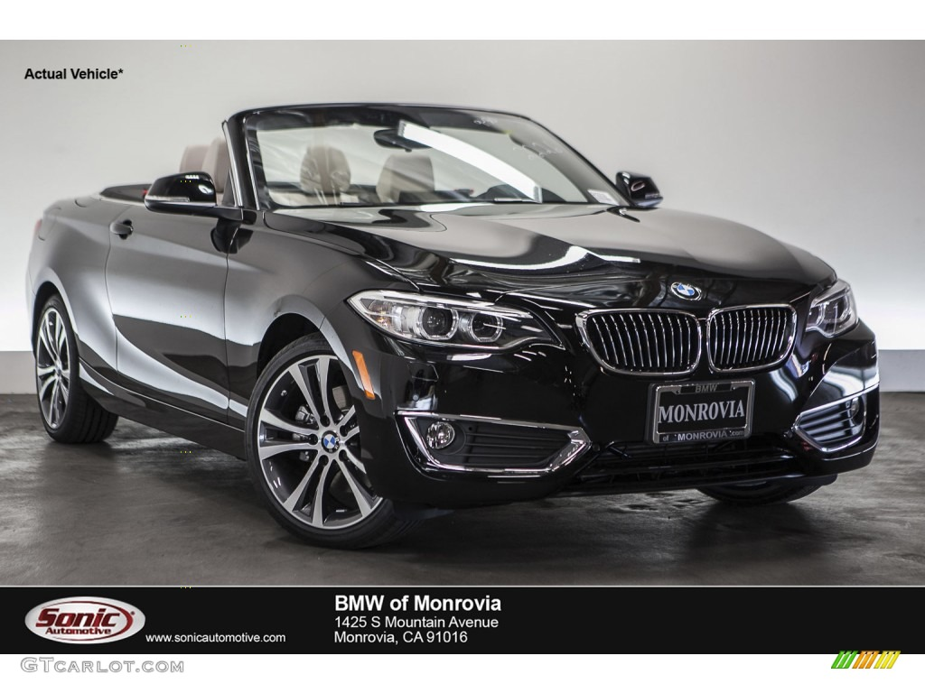 Bmw 228i Convertible >> 2016 Jet Black BMW 2 Series 228i Convertible #109444958 | GTCarLot.com - Car Color Galleries
