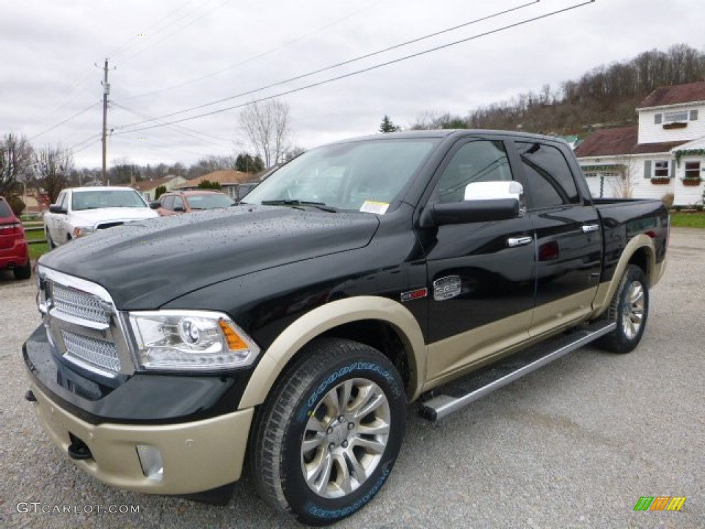 2016 black forest green pearl ram 1500 laramie longhorn crew cab 4x4 109444933. Black Bedroom Furniture Sets. Home Design Ideas