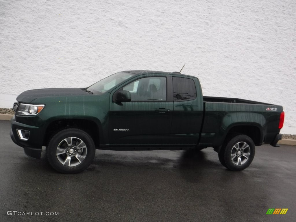 rainforest green metallic 2016 chevrolet colorado z71 extended cab 4x4 exterior photo 109481561. Black Bedroom Furniture Sets. Home Design Ideas