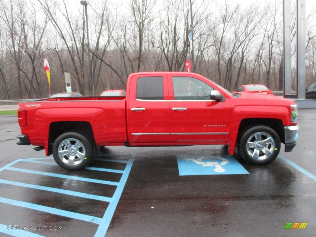 2016 red hot chevrolet silverado 1500 ltz double cab 4x4. Black Bedroom Furniture Sets. Home Design Ideas