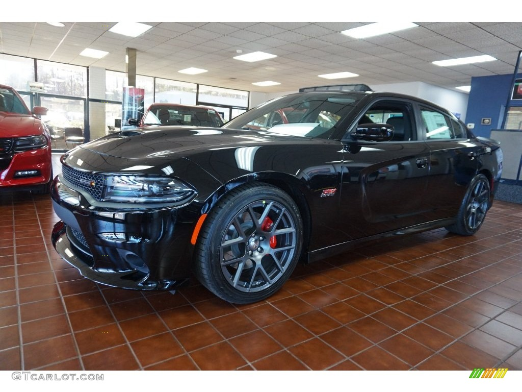 2016 pitch black dodge charger r t scat pack 109503875. Black Bedroom Furniture Sets. Home Design Ideas