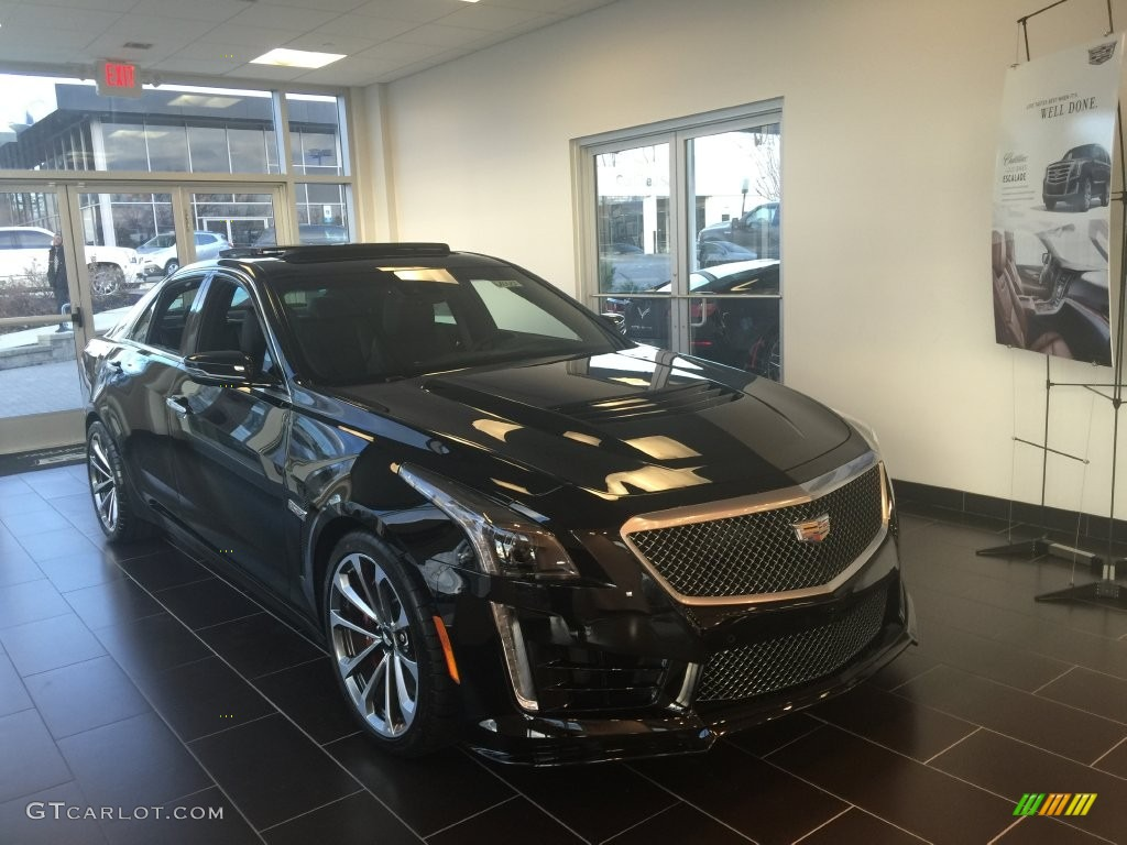 2016 black raven cadillac cts v sport sedan 109503571 car color galleries. Black Bedroom Furniture Sets. Home Design Ideas