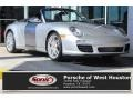 Arctic Silver Metallic 2009 Porsche 911 Carrera S Cabriolet