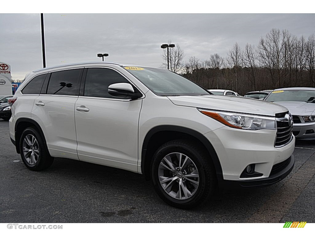 2015 Blizzard Pearl White Toyota Highlander Xle Awd 109559292 Car Color Galleries