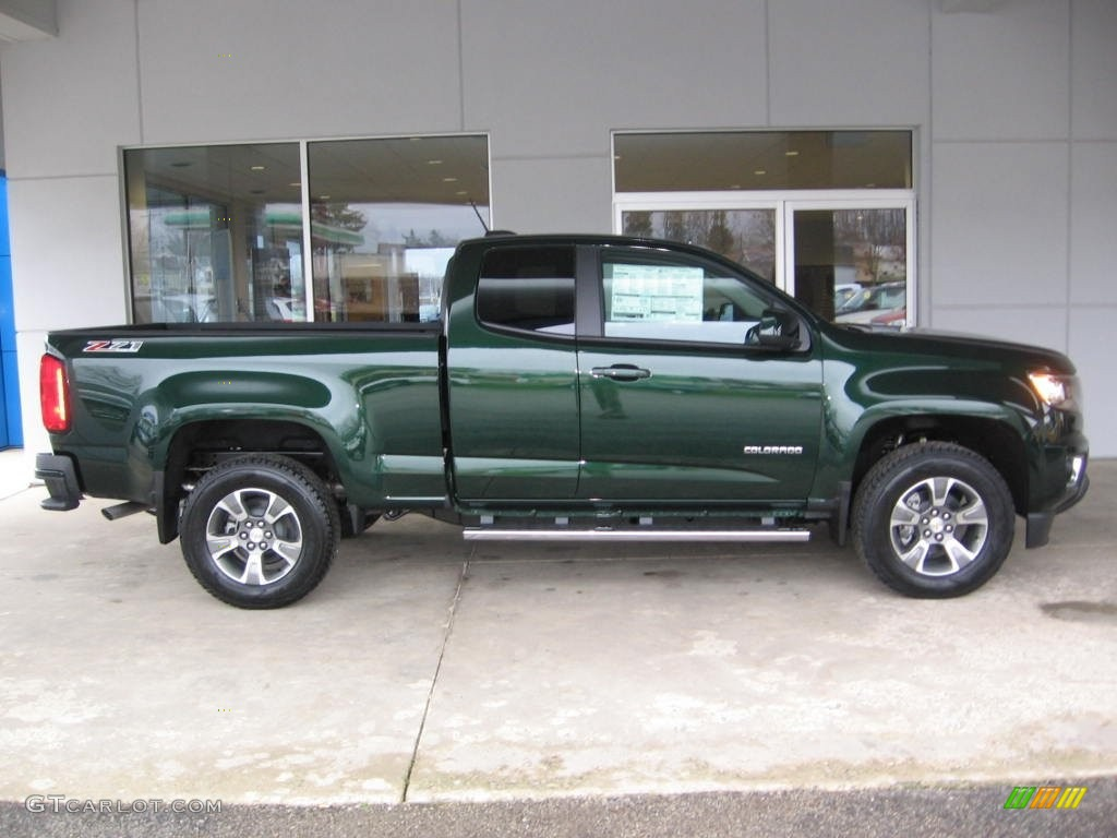 rainforest green metallic 2016 chevrolet colorado z71 extended cab 4x4 exterior photo 109597148. Black Bedroom Furniture Sets. Home Design Ideas