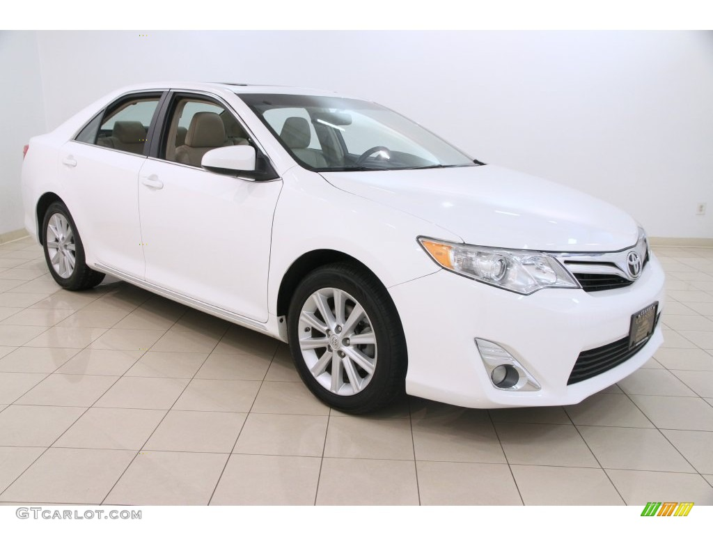 2013 super white toyota camry xle v6 109583051 car color galleries. Black Bedroom Furniture Sets. Home Design Ideas