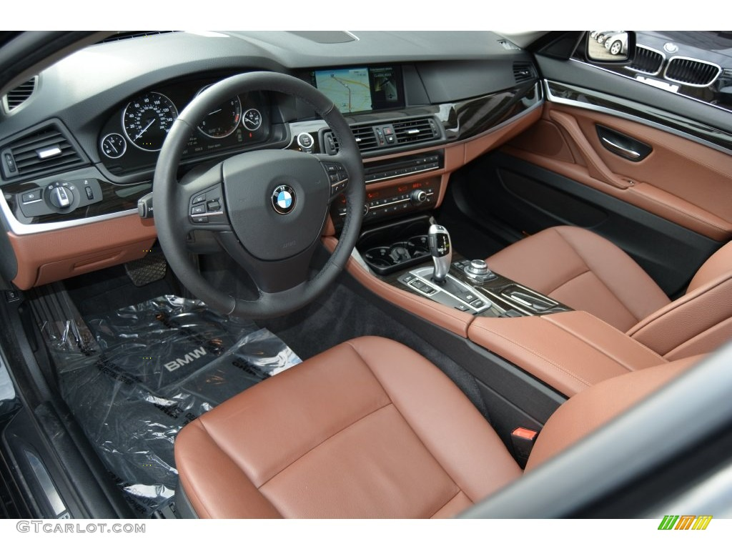 Cinnamon Brown Interior 2013 BMW 5 Series 528i XDrive Sedan Photo 109665899