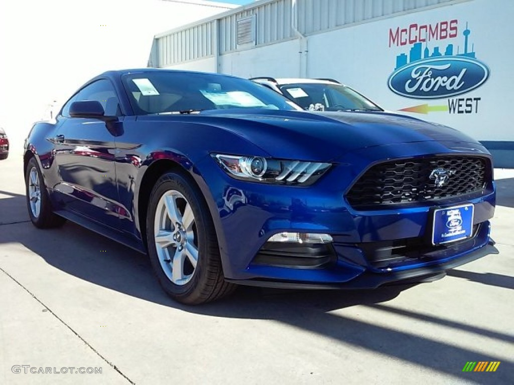 2016 deep impact blue metallic ford mustang v6 coupe 109665395 car color galleries. Black Bedroom Furniture Sets. Home Design Ideas