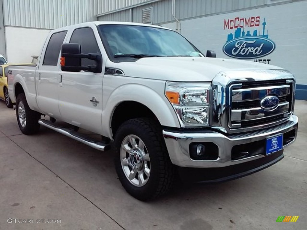 2016 white platinum metallic ford f250 super duty lariat crew cab 4x4 109665390. Black Bedroom Furniture Sets. Home Design Ideas