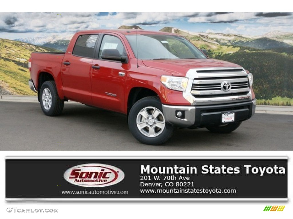 2016 Tundra SR5 CrewMax 4x4 - Barcelona Red Metallic / Graphite photo #1