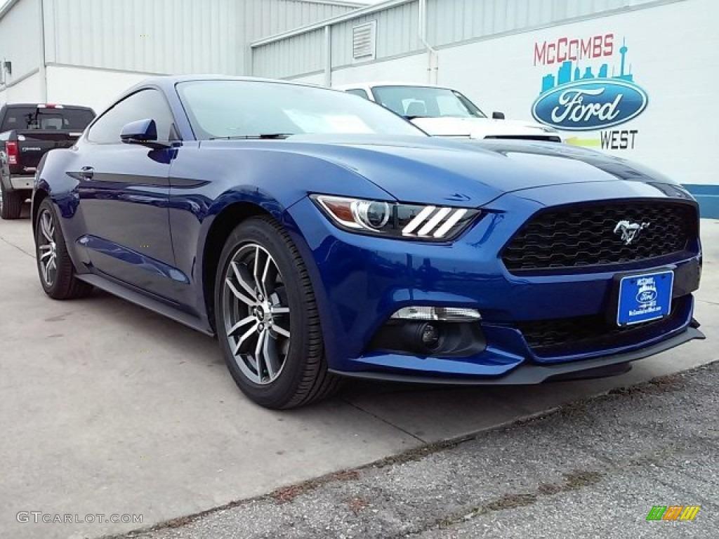 2016 Mustang EcoBoost Coupe - Deep Impact Blue Metallic / Ebony photo #1