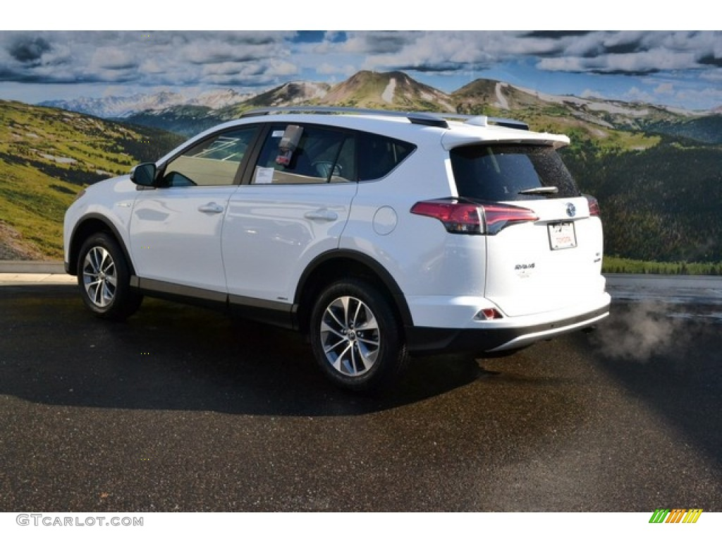 2016 super white toyota rav4 xle hybrid awd 109723763 photo 3 car color galleries. Black Bedroom Furniture Sets. Home Design Ideas