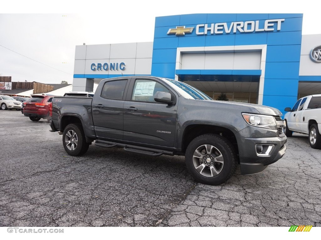 2016 cyber gray metallic chevrolet colorado z71 crew cab 4x4 109724119 car. Black Bedroom Furniture Sets. Home Design Ideas