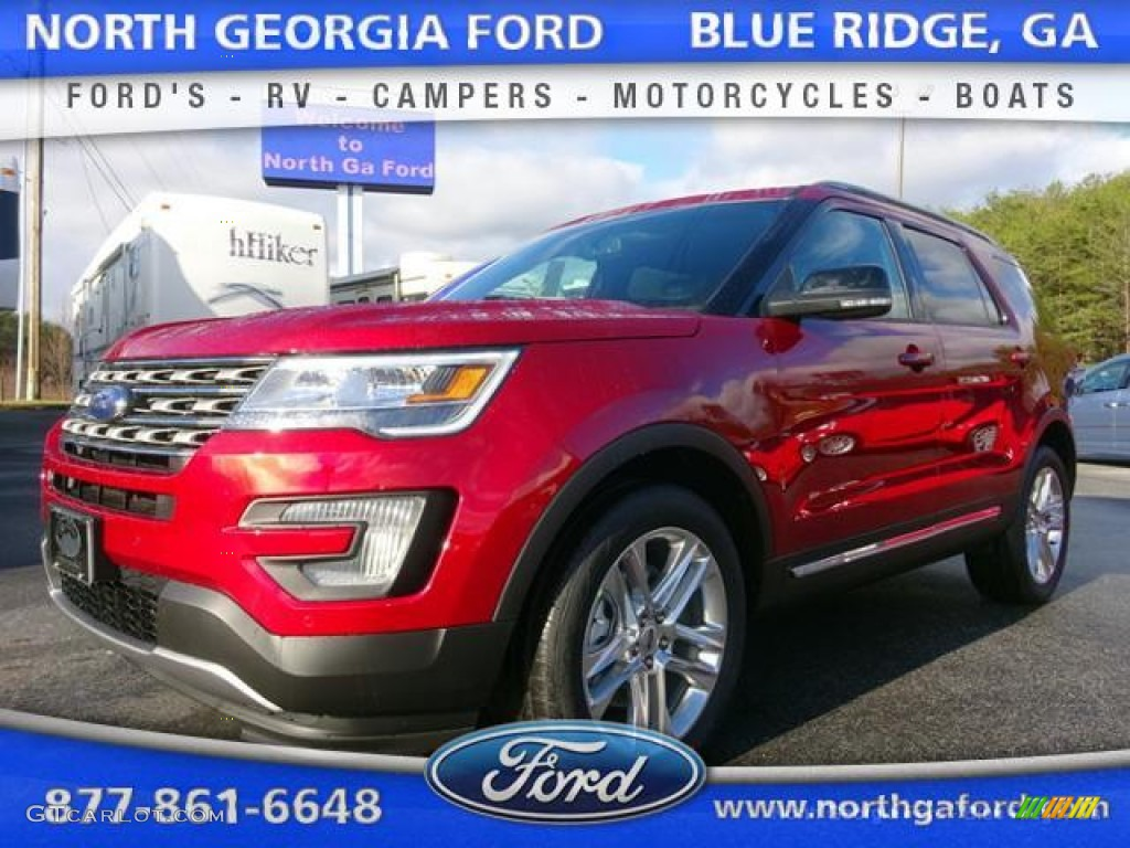 Ruby Red Metallic Tri Coat Ford Explorer
